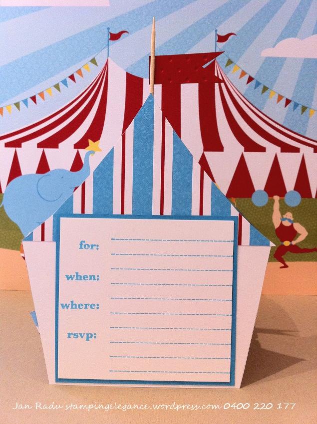 Circus tent template stamping elegance i created this invitation stopboris Images