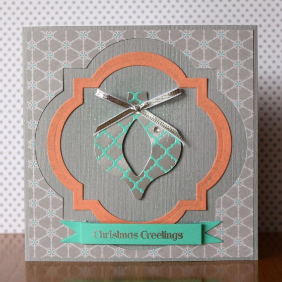 Cutout Foil Ornament Card