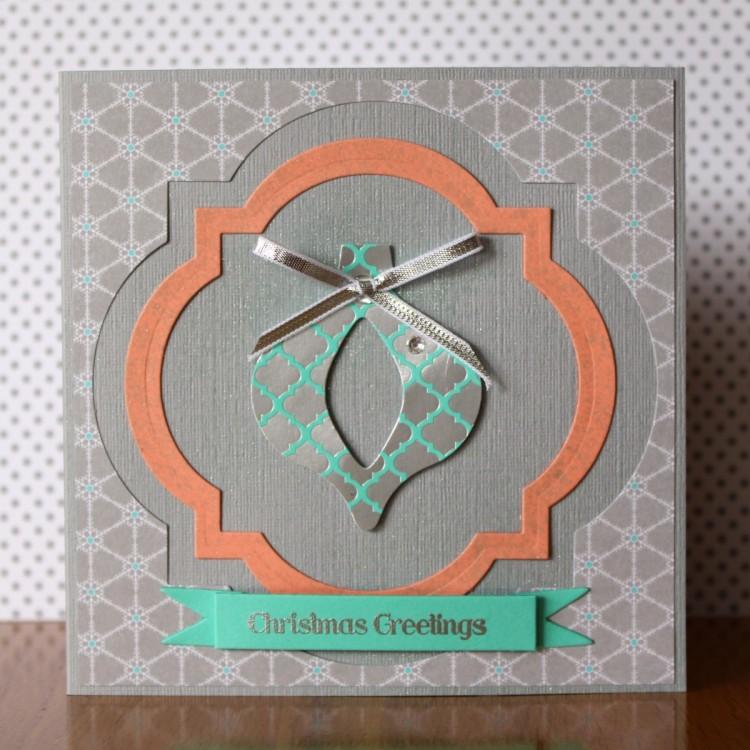 Cutout Foil Ornament Card