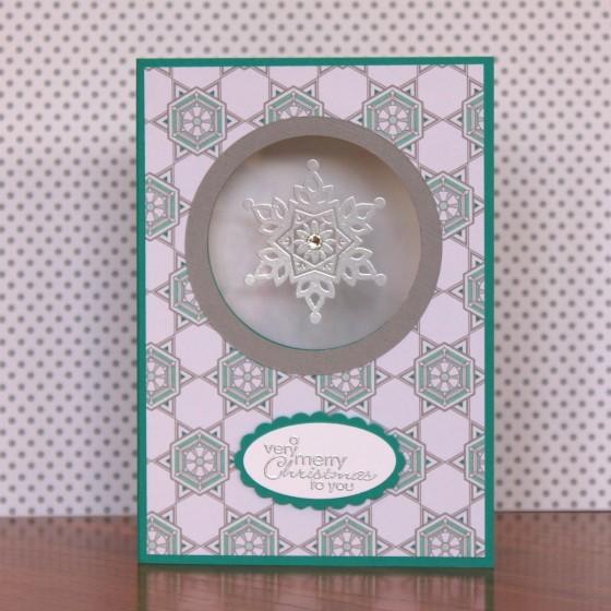 Festive Flurry Window Card
