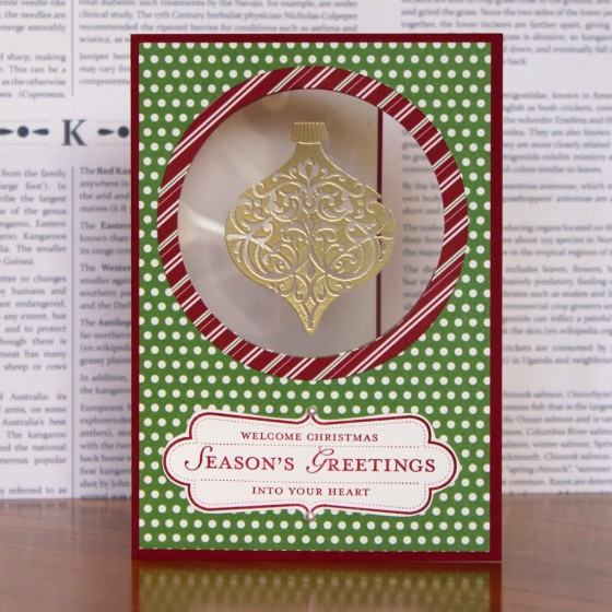 Ornament Window Card