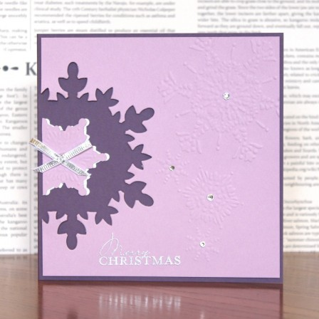 Negative Snowflake Card